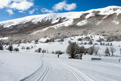 Ski Slope Abruzzi Italy Images libres de droits