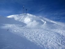 Ski slope in Alps. Austria, st. Anthon Stock Photo