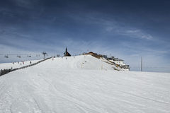 Ski slope in Alps Royalty Free Stock Photography