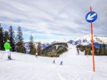 Ski Slope in Austria Stock Photography