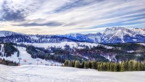 Ski Slope in Austria Royalty Free Stock Image