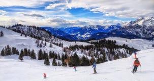 Ski Slope in Austria Royalty Free Stock Photos