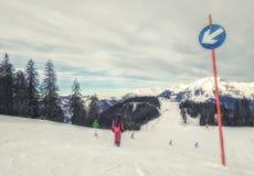 Ski Slope in Austria Stock Images