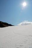 Ski slope in austria -arlberg -. Downhill to St.Christoph - ski slope in austria -arlberg Royalty Free Stock Image