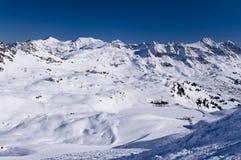 Ski slope in austrian alps Royalty Free Stock Image