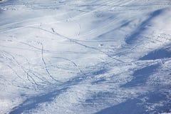 Ski slope background. The winter ski slope background Stock Photos
