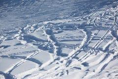 Ski slope background. The winter ski slope background Royalty Free Stock Image