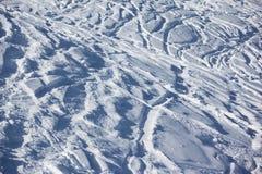 Ski slope background. The winter ski slope background Royalty Free Stock Photography