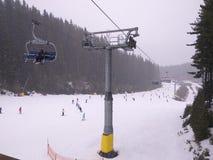 Ski slope. In Bansko Stock Photography