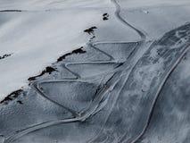 Ski slope. Bright day in swiss Alps Stock Photo