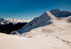 Ski slope. On a bright sunny day Stock Photography