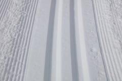 Ski Slope a campo través Imágenes de archivo libres de regalías