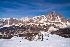Ski slope in Dolomites, Italy Stock Photo