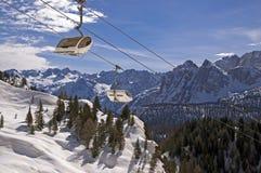 Ski slope in Dolomites, Italy Stock Photos