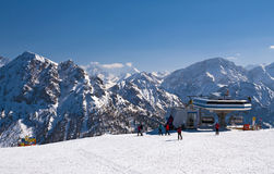 Ski slope in Dolomites, Italy Stock Image