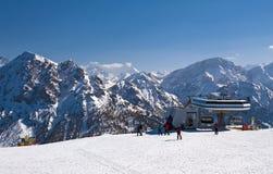 Ski slope in Dolomites, Italy Stock Image