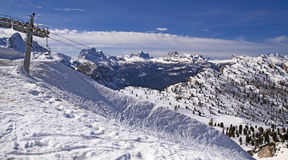 Ski slope in Dolomites, Italy Royalty Free Stock Images
