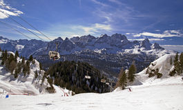Ski slope in Dolomites, Italy Royalty Free Stock Photography
