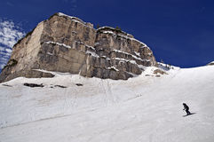 Ski slope in Dolomites, Italy Royalty Free Stock Image