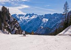 Ski slope in Dolomites, Italy Royalty Free Stock Images