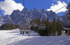 Ski slope in Dolomites, Italy Stock Images