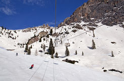 Ski slope in Dolomites, Italy Stock Photo