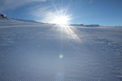Ski slope. Empty ski slope in the Austrian Alps Royalty Free Stock Image