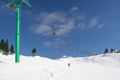 Ski slope. Empty ski slope and chair lift Stock Image