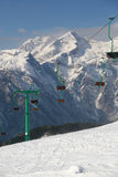 Ski slope. Empty ski slope and chair lift Stock Photography