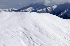 Ski slope for freeride Stock Images