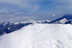 Ski slope for freeride Royalty Free Stock Photos