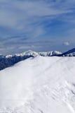 Ski slope for freeride Stock Photography