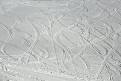 Ski Slope with Fresh Curves Royalty Free Stock Photo