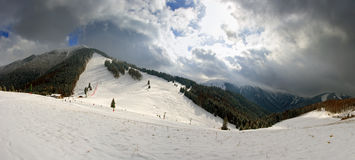 Free Ski Slope In Resort Vratna Royalty Free Stock Photos - 13138548