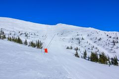 Ski Slope In Sunny Weather Stock Images