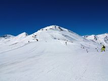 Ski slope in the Italian Alps Stock Photos