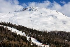 Ski slope in the Italian Alps Stock Image