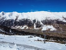Ski slope in the Italian Alps Royalty Free Stock Photo