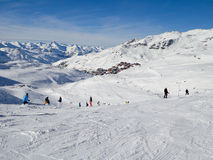 Ski slope at Les Menuires Stock Photos