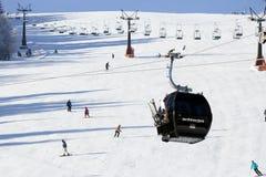 Ski slope lift alps Stock Image