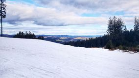 Ski Slope in Lipno, Czechia. The ski slope in Lipno, Bohemian Region of Czech Republic. Perfect ski slope of beginners Royalty Free Stock Photography
