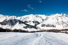 Ski slope in Livigno Stock Images