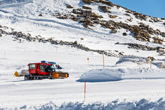 Ski slope maintenance Royalty Free Stock Photos