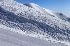 Ski slope in morning Stock Photo