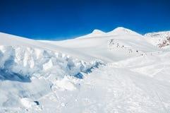 Ski slope on the mount Elbrus Royalty Free Stock Images