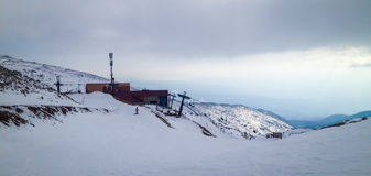Ski slope mount Hermon Royalty Free Stock Image