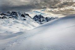 Ski Slope nahe Madonna di Campiglio Ski Resort, italienische Alpen Stockbilder