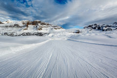 Ski Slope near Madonna di Campiglio Ski Resort, Italian Alps Royalty Free Stock Photography
