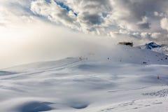Ski Slope near Madonna di Campiglio Ski Resort, Italian Alps Stock Images