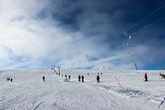 Ski slope. The ski slope near Vidra lake, Romania Royalty Free Stock Photography